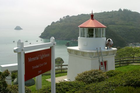 Cyberlights Lighthouses - Trinidad Head & Trinidad Memorial Lighthouses