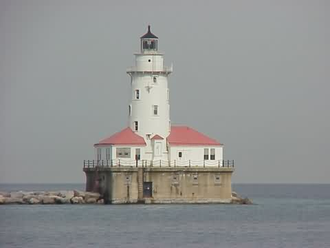 Cyberlights Lighthouses - Chicago Harbor Breakwater Lighthouse