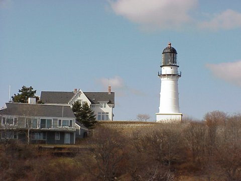 Cyberlights Lighthouses - Cape Elizabeth (Two Lights) Lighthouse