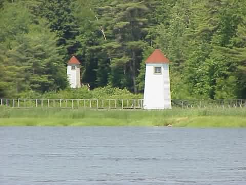 Cyberlights Lighthouses - Kennebec River Range Lighthouses