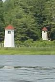 Cyberlights Lighthouses - Kennebec River Range Lights