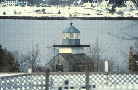 Cyberlights Lighthouses - Rockland Harbor Southwest Lighthouse
