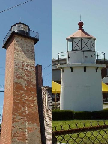 Cyberlights Lighthouses - Newburyport Range Lights