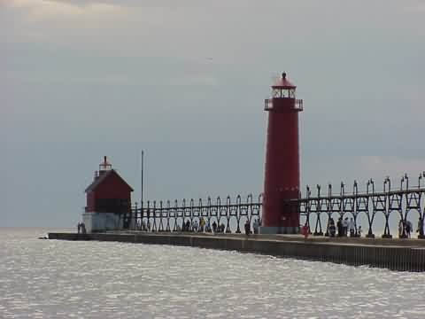 Cyberlights Lighthouses - Grand Haven South Pierhead Lights