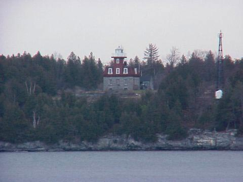 Cyberlights Lighthouses - Valcour Island (Bluff Point) Lighthouse